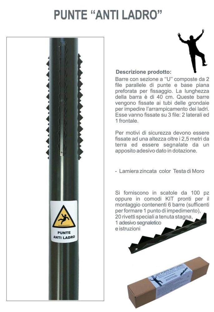 Kit punte antiladro per grondaie nuova ferramenta emiliana - Barre antintrusione per finestre ...