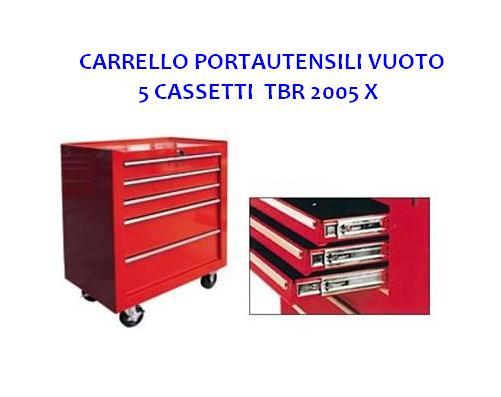 CARRELLO PORTA UTENSILI A 5 CASSETTI TBR 2005-X