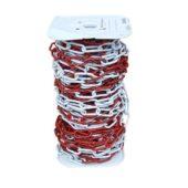Catena ZINCO CROMATA a freddo verniciata bianco-rosso.