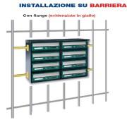Installazione su barriera con Flangia