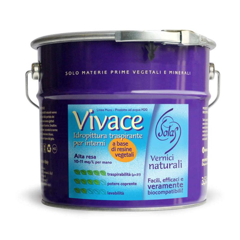 Vivace M20 Solas Vernici Naturali Pittura Murale Traspirante Per Interni Ml 750 Lt 3 5 Lt 14 Colormarket E Ferramenta Emiliana